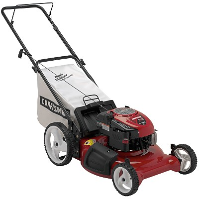 Craftsman 6 75 Torque Rating 21 In 3 N 1 Deck Rear Bag Push Lawn Mower With High Wheels